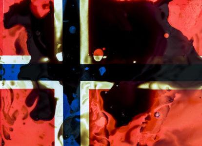 Oliver Ressler, Oil Spill Flag, 2020