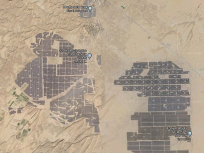 Bhadla Solar Park, India, Google Maps