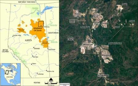Athabasca Oil Sand Mining Map, 2011